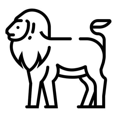 Lion vector illustration in line stroke design Ilustração