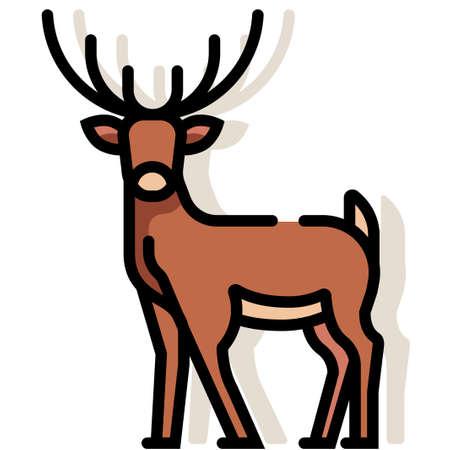 Deer vector illustration in line color design Ilustrace