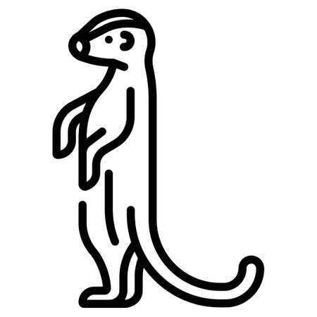 Meerkat vector illustration in line stroke design Stock Vector - 106053457
