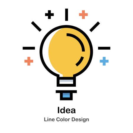 Lightbulb Line Color Icon