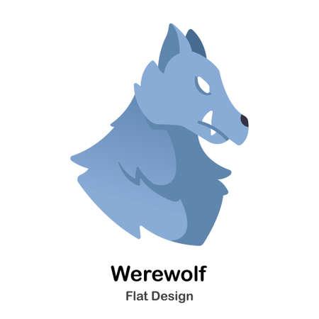 Werewolf Flat Illustration