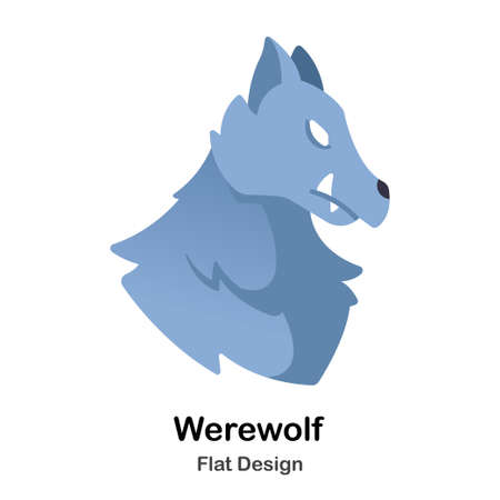 Werwolf flache Illustration