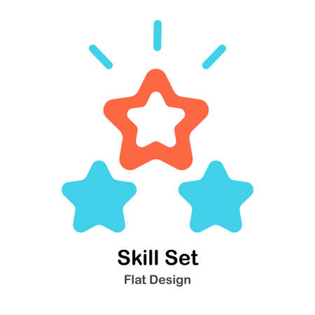 Skill stars Flat vector Illustration Ilustrace