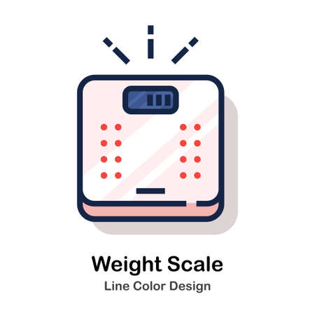 Weight scales Line color icon
