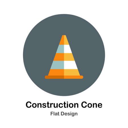 Los colores construyen construcción de cono en el diseño plano ilustración vectorial de color Foto de archivo - 106120903