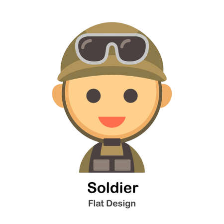 Soldier Flat illustration