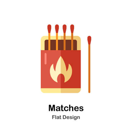 Matches In Flat Color Design Vector Illustration Ilustrace