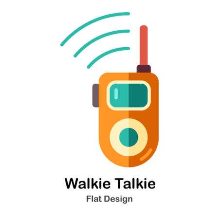 Walkie Talkie In Flat Color Design Vector Illustration Banque d'images - 106194194