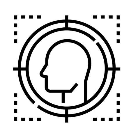 Targeted vector illustration in line stroke design Illustration