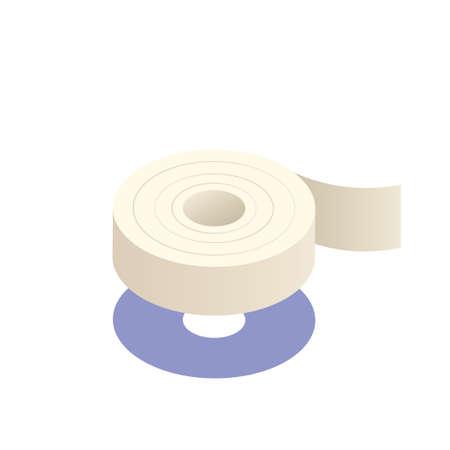 Adhesive tape gradient vector illustration in isometric design Standard-Bild - 112081894