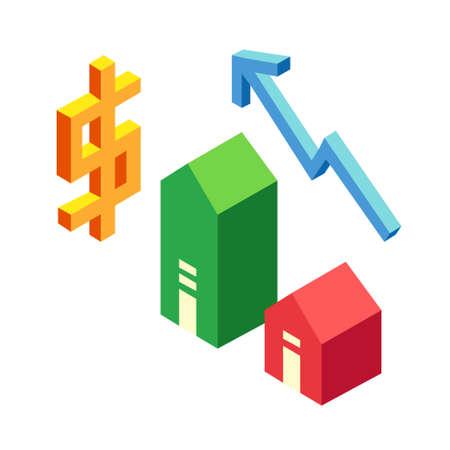Property appraisal vector illustration in isometric design