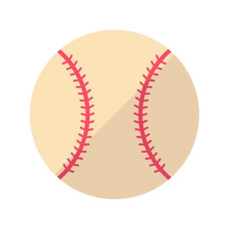 Baseball In Flat Color Design Vector Illustration