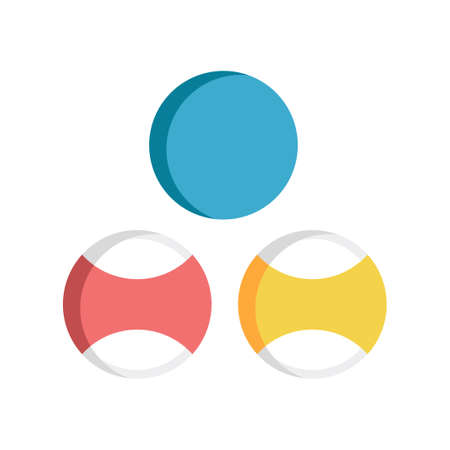 Three billiards vector illustration in flat color design Illusztráció