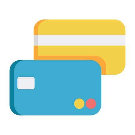 Credit card vector illustration in flat color design