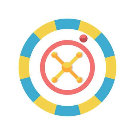 Roulette wheel vector illustration in flat color design