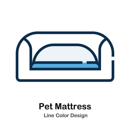 Pet Mattress Icon In Line Color Design Vector Illustration