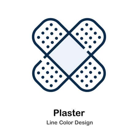 Ikona tynku w ilustracji wektorowych kolor linii Ilustracje wektorowe