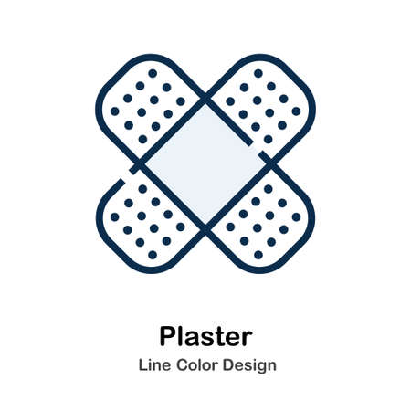 Plaster Icon In Line Color Design Vector Illustration