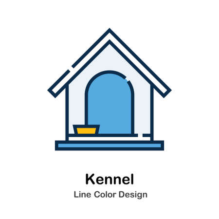 Kennel Icon In Line Color Design Vector Illustration Illusztráció