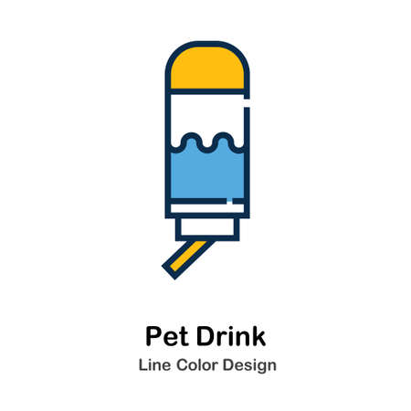 Pet Drink Icon In Line Color Design Vector Illustration
