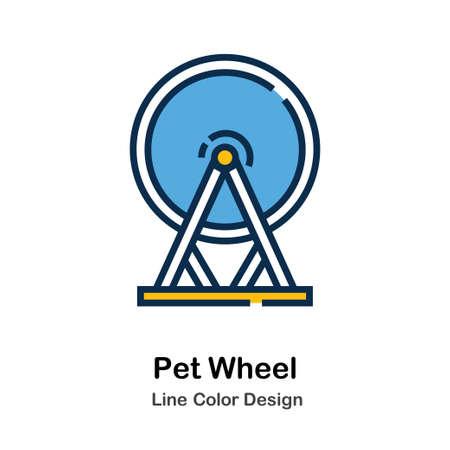 Pet Wheel Icon In Line Color Design Vector Illustration Standard-Bild - 106382911