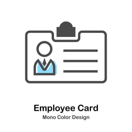 Employee Card Icon In Mono Color Design Vector Illustration Ilustrace