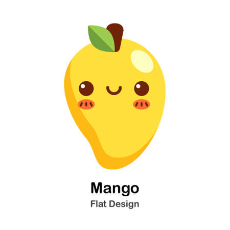 Mango Icon In Flat Color Design Vector Illustration