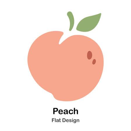 Pfirsich flache Illustration Vektorgrafik