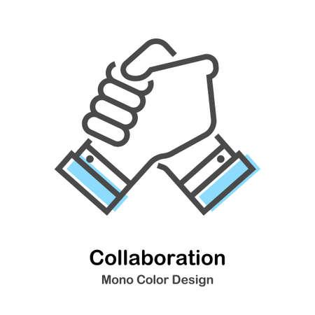 Collaboration Mono Color Illustration