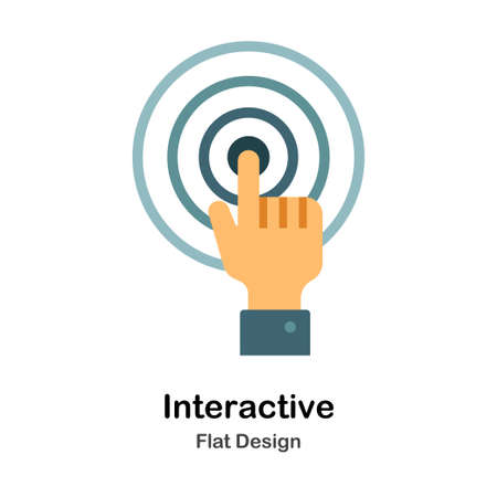 Interactive Icon In Flat Color Design Vector Illustration