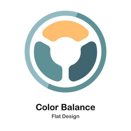 different color tones Flat icon