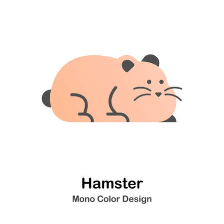 Hamster mono color icon
