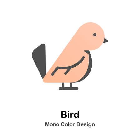 Parakeet mono color icon
