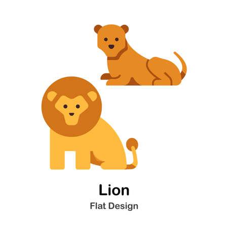 Lion flat illustration
