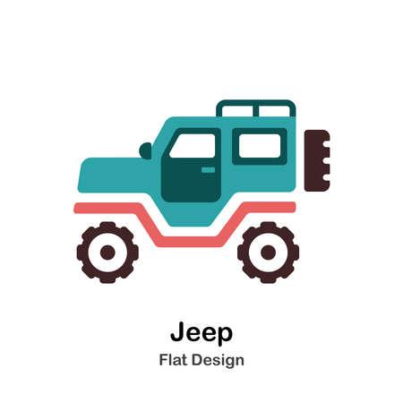 Icon In Flat Color Design Vector Illustration