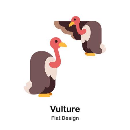 Vulture Icon In Flat Color Design Vector Illustration