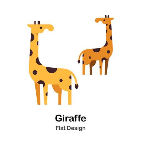 Giraffe flat illustration