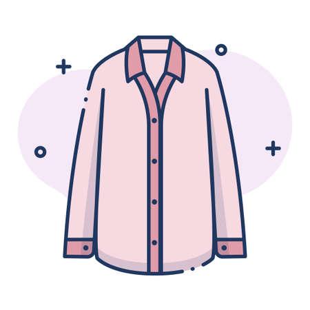 Pyjama-Vektorillustration im Linienfarbdesign