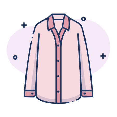 Pyjamas vector illustration in line color design