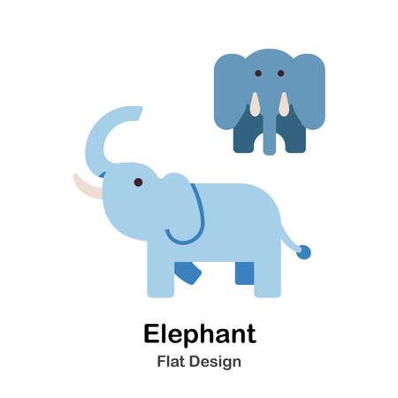 Elephant flat illustration