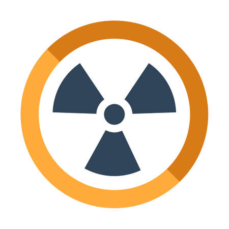 Radiation icon vector illustration in flat color design 写真素材 - 106482670