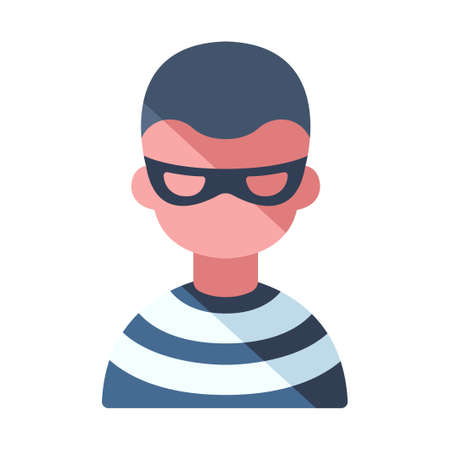 A thief vector illustration in flat color design Vecteurs