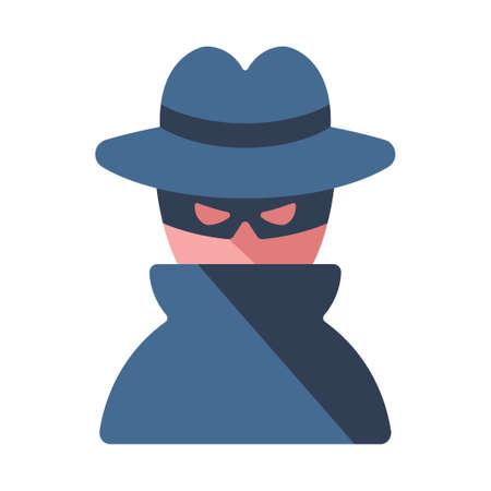 A criminal vector illustration in flat color design