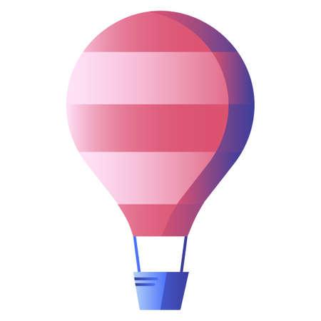 A balloon vector illustration in gradient design