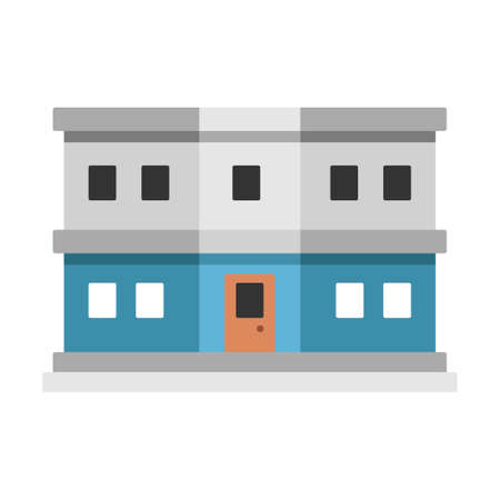 Customs department building vector illustration in flat color design