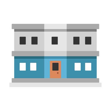 Customs department building vector illustration in flat color design