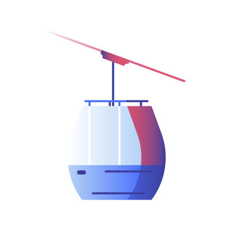 Cable car vector illustration in gradient design