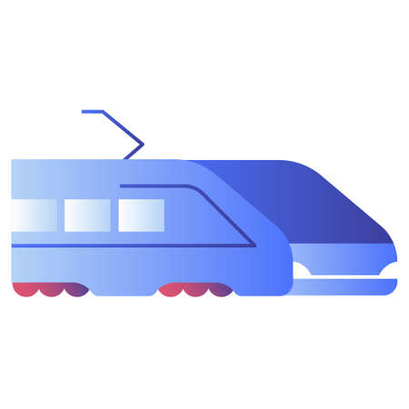 Bullet train vector illustration in gradient design