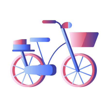 A bicycle vector illustration in gradient design Illustration