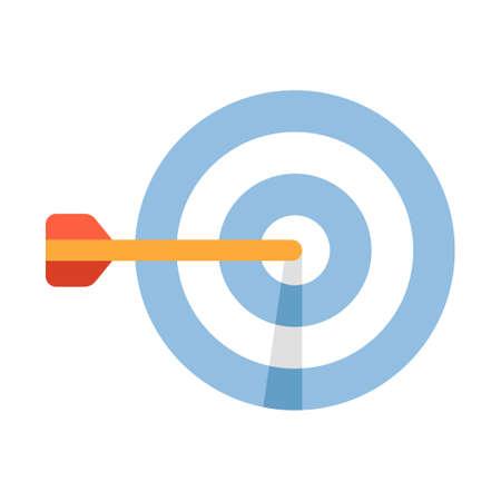 Darten en een stalen darts vectorillustratie in egale kleur design
